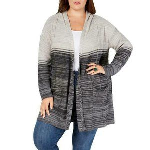 Style & Co Hooded Duster Cardigan Sweater 2X